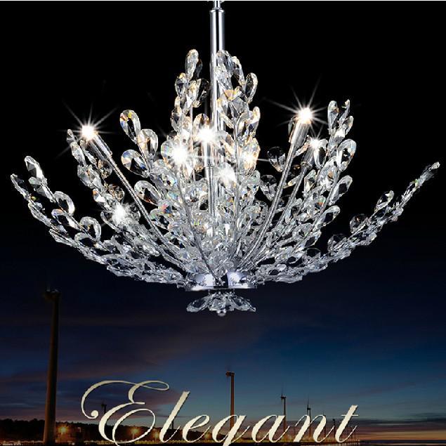 Modern Crystal Chandelier Lamp Living Room Dining Pendant Lights Fashion Design Lighting