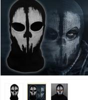 Cheap Call of Duty 10 COD Cosplay Balaclava Ghost Skull Face Mask Skateboard Bike Hood Caps Hats Masks Winter Sports CS performance props Newest