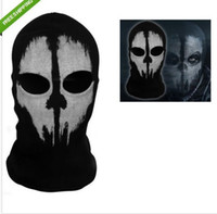 Costume Accessories Hat Free Size Call of Duty 10 COD Cosplay Balaclava Ghost Skull Face Mask Skateboard Bike Hood Caps Hats Masks Winter Sports CS performance props Costumes