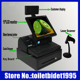 Wholesale Hot selling quot LCD display hole set restaurant supermarket retail shops cash register pos system pos machine TX T