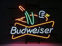 Wholesale BUDWEISER DUCK BEER BAR PUB NEON LIGHT SIGN