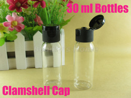 Wholesale 30ml Black Clamshell bottle refillable bottle make up container small empty bottles high quality