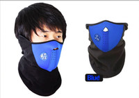 Wholesale Fashion Winter Face Mask Bike Motorcycle Protect Face Mask Neck Warmer Snowboard Riding outdoors ski masks Collar Scarf Ear Warmer color