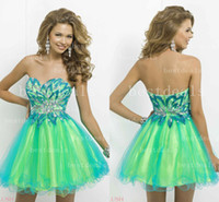 2014 blue & green Homecoming Dresses Sexy Sweetheart Cry...