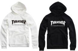 O envio gratuito de 70 --- 150cm crianças hoodies desgaste da rua thrasher impresso roupas hoodie popular para crianças de 8 cores