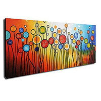 Wholesale Hand painted Abstract Oil Painting with Stretched Frame Set of
