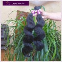 Wholesale 3pcs black B luffy Virgin Human Hair Malaysian Body Wave bulk for braiding hair products