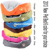 Wholesale New colorful pet cat dog beds pink orange blue yellow brown gray green size M L