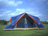 Wholesale 2014 hot sle and on sale Automatic persons double layer outdoor camping tent with two bedroom with a free mat for in low pirce