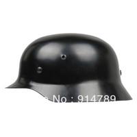german helmets - WW2 GERMAN ELITE WH ARMY M35 M1935 STEEL HELMET BLACK