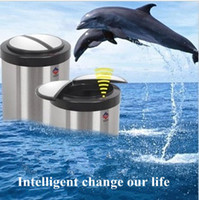 Wholesale Stainless Steel Smart Rubbish Bucket Infrared Automatic Sensor Waste Bin Garbage Bucket Touchless Trash Cans10L
