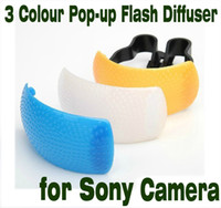 pop up flash diffuser - 3 Colour Pop up Flash Diffuser for Sony camera
