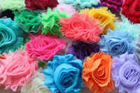 Wholesale Free CPAM Chic Shabby flower chiffon frayed rose flower hair garment accessory flower trimming cm