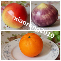 Wholesale High Quality Dia cm cm Artificial Fruit Vegetable Simulation Pomegranate Onion Orange Wedding Photography Props Toy