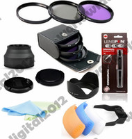 Cheap 3 Colour Pop Up Flash Hot Shoe Diffuser 67MM Complete Lens Filter kit FLD CPL UV for Canon EOS Rebel T5i T4i T3i 7D 6D 70D F5