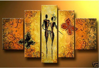 Fujian China (Mainland) Abstract No Butter fly lover story MODERN ABSTRACT CANVAS ART OIL PAINTING wall decoration oil painting new arrival P68123