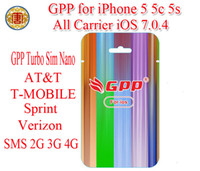 Wholesale Original GPP S CTurbo Nano Sim Sim Nano For iPhone c s IOS ios CDMA GSM AT amp T T MOBILE Sprint Verizon NETELL SMS G G G