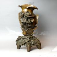 Cheap China antique Bronze Carp statues Vase