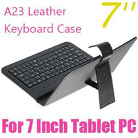 Wholesale 7 inch Colorful Leather Case w Mini Keyboard Bracket Cover Protector for quot apad epad mid tablet pc JP