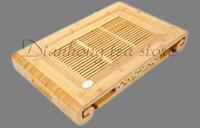 Cheap Tea tray Tea board Tea table * Scroll * Bamboo Gongfu Tea Serving Table Natural color 45cmX27.5cmX6.5cm