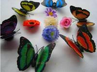 Wholesale Factory Supply Three dimensional Butterfly Fridge Magnet Colorful Home Decoration Children s Toys Fedex