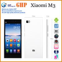 Wholesale Original Xiaomi M3 Mi3 WCDMA Qualcomm Quad Core Cell Phone GB RAM GB ROM p mp NFC Multi Language Black white silver