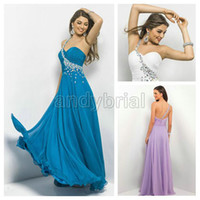 2014 Customer Made one- Shoulder Prom Dresses Elegant Beading...