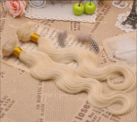 Cheap Body Wavy Color 613#stock 8-30inch Brazilian remy hair weft weaving extensions remy hair 100g 3pcs full head
