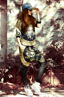 acrylic portraits - Fashion Baggy Harem Pants Hippie Hip hop Clown Head portrait women s Casual Crotch Pants