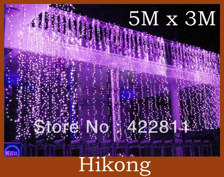 Curtains Ideas curtain lights for bedroom : 500 Led String Curtain Light 5m *3m Background Christmas Party ...