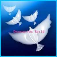 Wholesale high quality biodegradable pigeon shape white Dove Balloons helium balloon for wedding decoration
