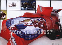 Cheap new Single children's boy's bed in a bag sets with sheets 100% Cotton red popular cartoon pattern duvet quilt covers bed linen