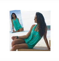 Women Swimdress Pure Colour Wholesale - Stylish Women Sexy One piece Swimwear Skirt Style One piece Swimsuit plus Size Bathing Suit