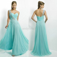 2014 Alluring Crystal Beaded One- Shoulder Prom Dresses Long ...