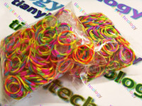 Cheap DIY Rainbow Bracelet Twist Bands kit refill S clip or C Clip Rubber Loom