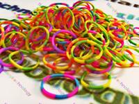 animal rubber band bracelets - RAINBOW COLOR DIY LOOM BAND BRACELET RUBBER BANDS CLIPS