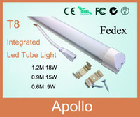 T8 18w SMD 5050 Integrated T8 LED Tube Light Lamp Tube & Holder All-in-one 1.2m 4FT 18W SMD 5050 LED Fluorescent Tube Light 1200mm 120cm AC85-265V