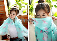 Cheap lady scarf Fashion owl scarf voile Scarves shawl 100%polyester , Free Shipping 10pcs lot