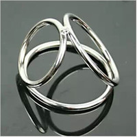 Wholesale New Sex Toys Metal Cock Ring Stainless Steel Penis Ring Ring sex ring Cock Cage Cockring Penis sleeve Sex Toys For Man