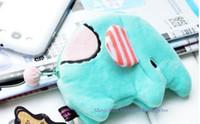 Wholesale 12PCS Kawaii SAN X Sentimental Blue Elephant CM Mini TOP Plush Coin Purses amp Wallets Pouch Case BAG Pendant KEY BAG Chain BAG