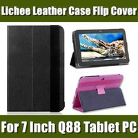 Wholesale 7 inch Leather Case for Tablet PC Allwinner A23 A13 Q88 Protective Leather Case Cover PT