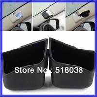 Gel 0 12D4292-BK Free Shipping 1Pair Car Auto Truck Pillar Pocket Holder Storage Box Cigarette Cellphone Glasses BK