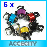 Cheap Free Shipping 6pcs lot Bike Bicycle Metal Ring Bell Compass Ball Handlebar 6 color to choose
