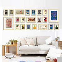 mounted photo frames - L Modern Wooden Creative Combination Wall Mounted Photo Frame Great Wall Multi Frame