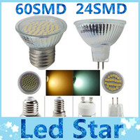 Wholesale GU10 E27 E14 MR16 LED W Spotlingt Lamp Bulb SMD SMD Warm cool white V V