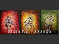 Abstract Yes No 3 panel canvas wall art Modern simple abstract music art picture oil painting on canvas home deco living room free shipping