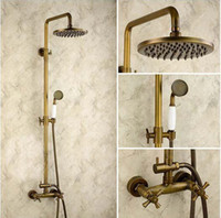 Wholesale amp retail high quality bathroom quot shower set faucet mixer hand shower dual handles wall mounted