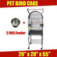 Wholesale 20 quot x20 quot x55 quot PET BIRD PARROT CANARY CAGE AVIARY WITH STAND WHEEL FREE SS NEW