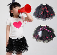 A-Line baby pettiskirts and tutus - Children s Skirts Fashion summer skirt Tutu dresses for girls Tutu skirts with dots and bow baby lace tutu pettiskirts