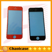 For Apple iPhone Touch Screen  Free Shipping 30 PCS Brand New Replacement Front LCD Screen Glass Lens Cover for iphone 5 Black with